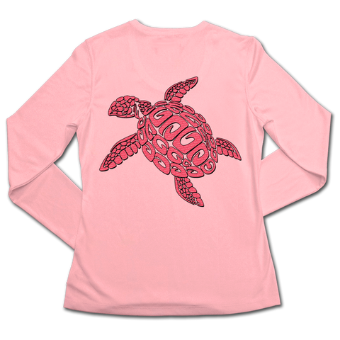 Ladies SPF50+ Sun Shirt - Sea Turtle Lilly