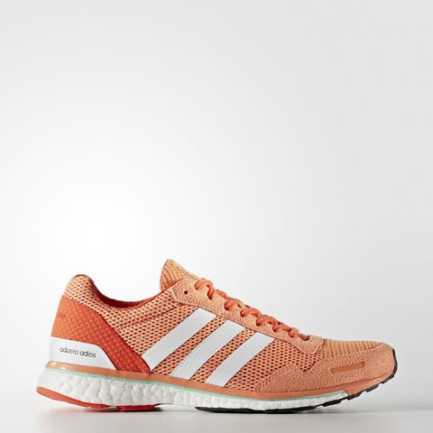 Women's Adizero Adios 3 | Easy Orange, White Energy