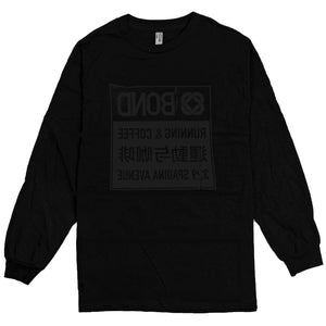 Bond Ripped Logo LS Tee | Black Black