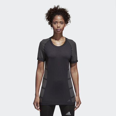 Women's Ultra Primeknit Light Tee | Black, Grefiv