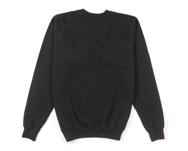 Cult Moth Eaten Sweatshirt | Black