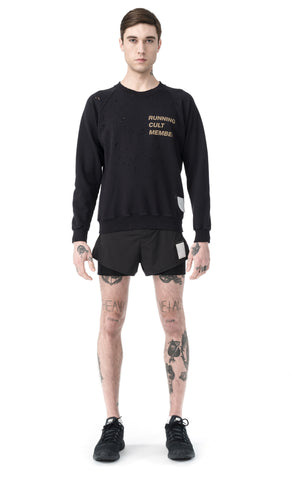 Cult Moth Eaten Sweatshirt | Dark Navy