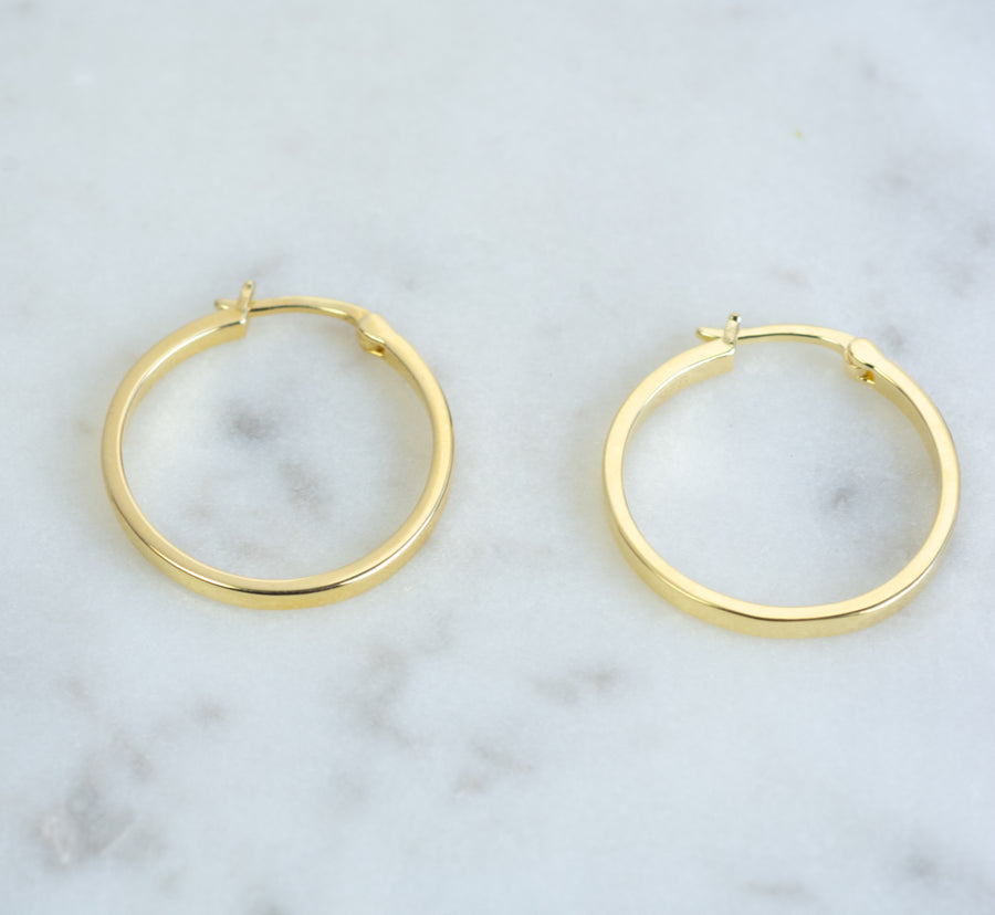 Large Flat Hoops (18mm)