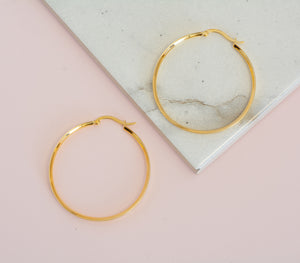 40mm Lora Hoop Earrings
