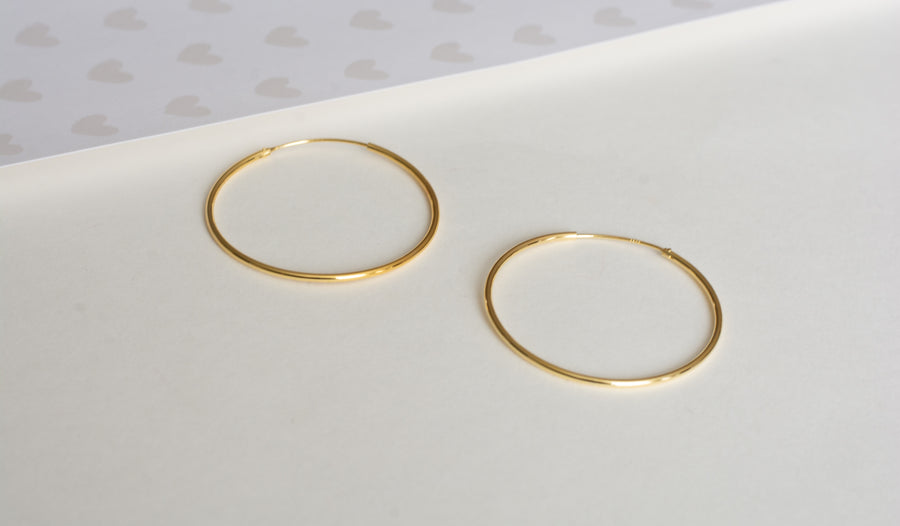 50mm Thin Wire Hoops