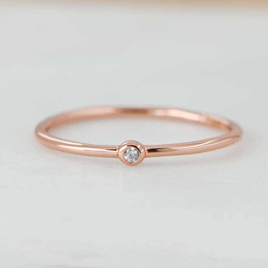 Minimalist Solitaire Ring