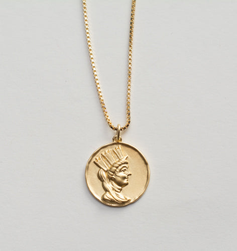 Tyche Coin Medallion Necklace