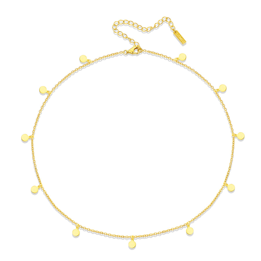 gold minimalist charm necklace