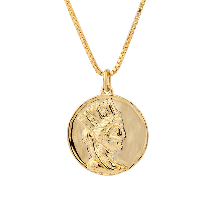 Coin Medallion Necklace
