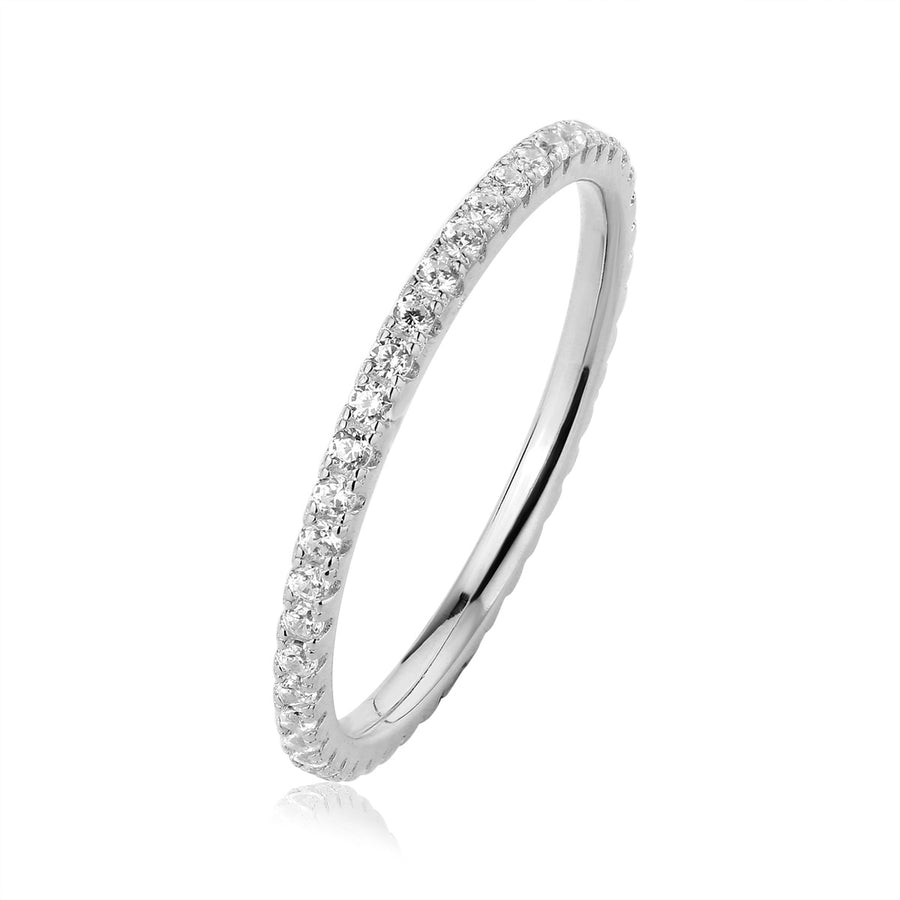 silver diamond eternity ring