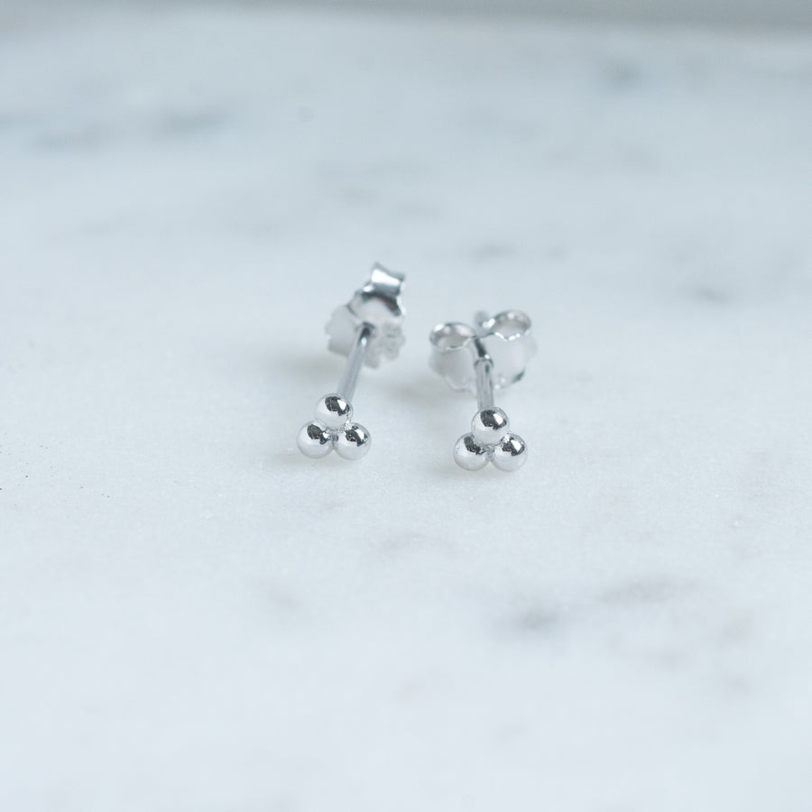 Dainty Three Sphere Studs