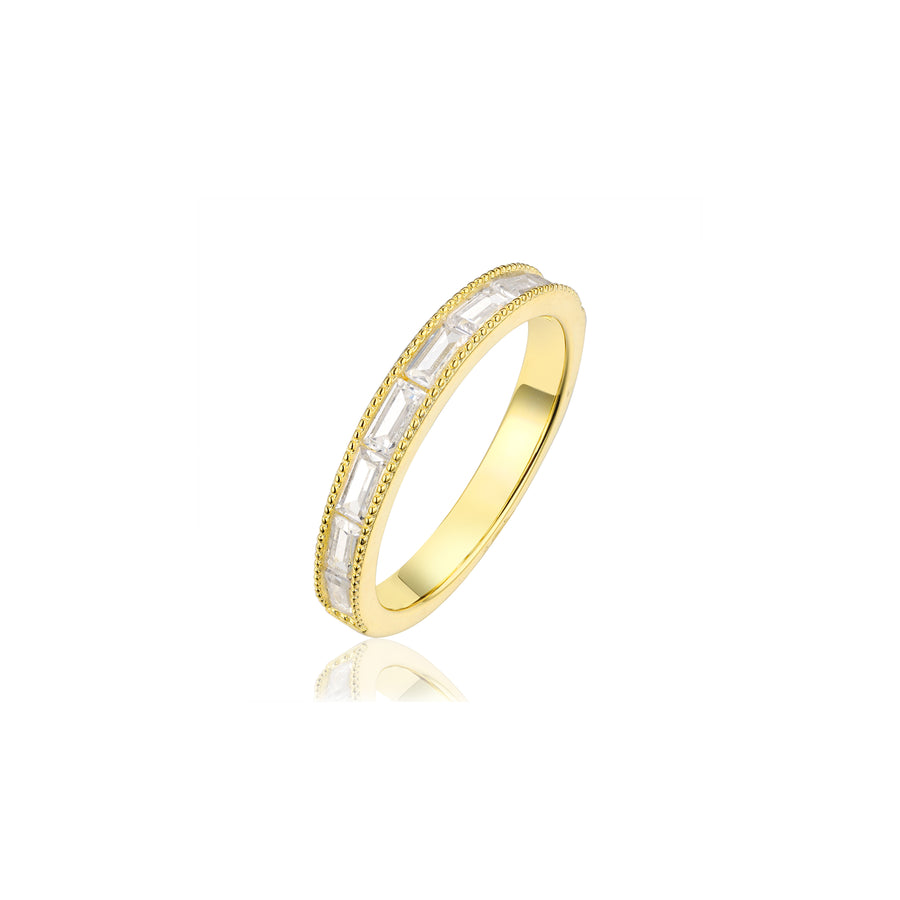 gold baguette stacking ring
