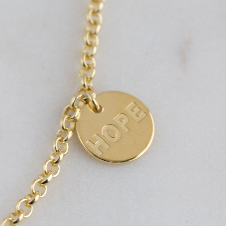 gold charm necklace spiritual