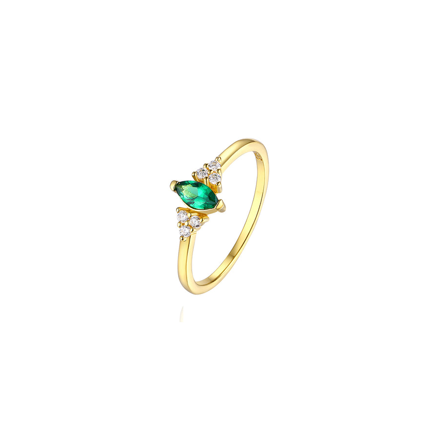 emerald marquise gold ring