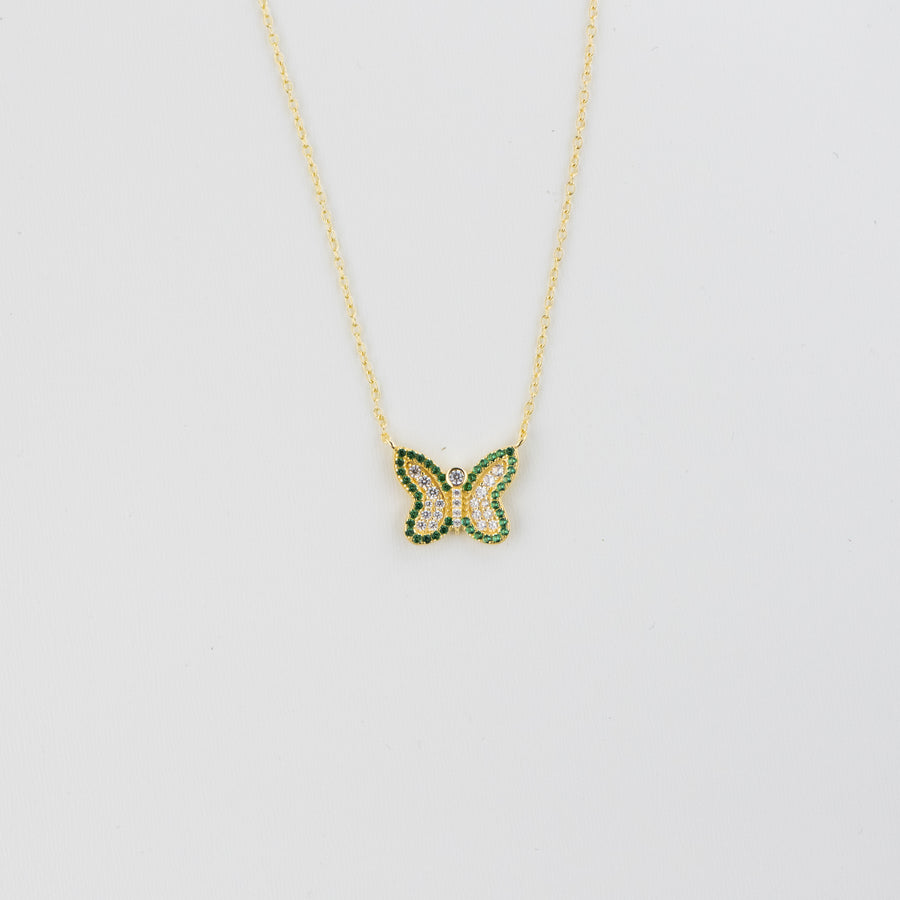 Emerald Butterfly Necklace