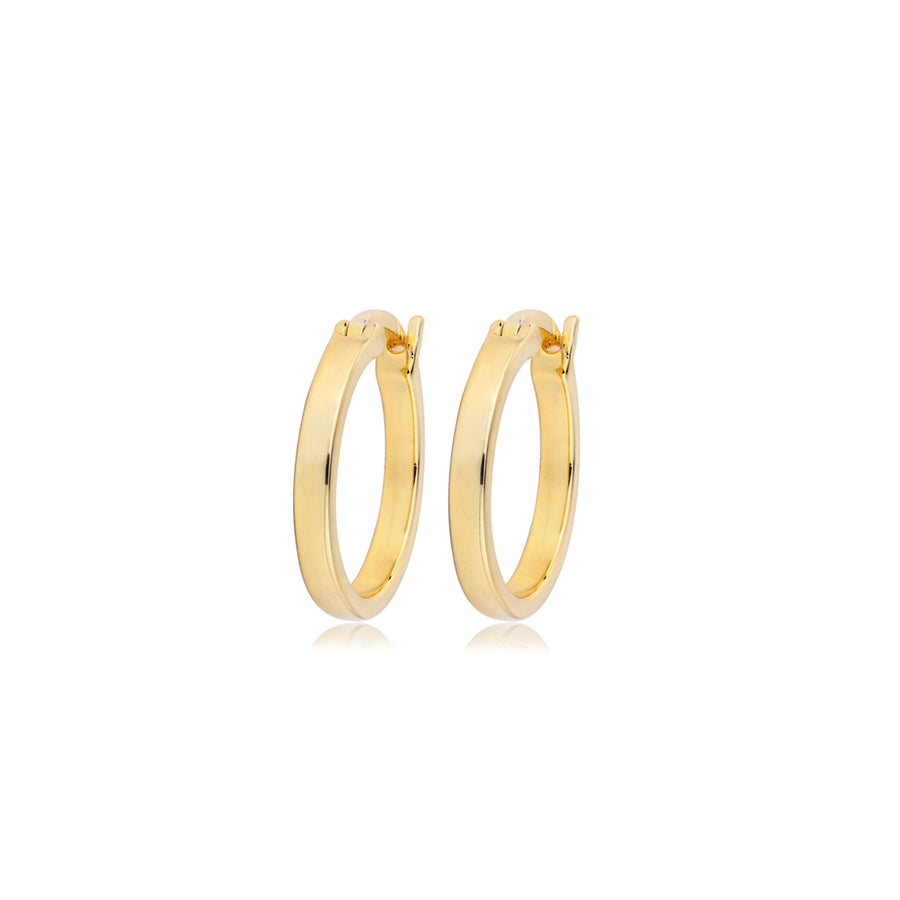 13mm gold flat hoops