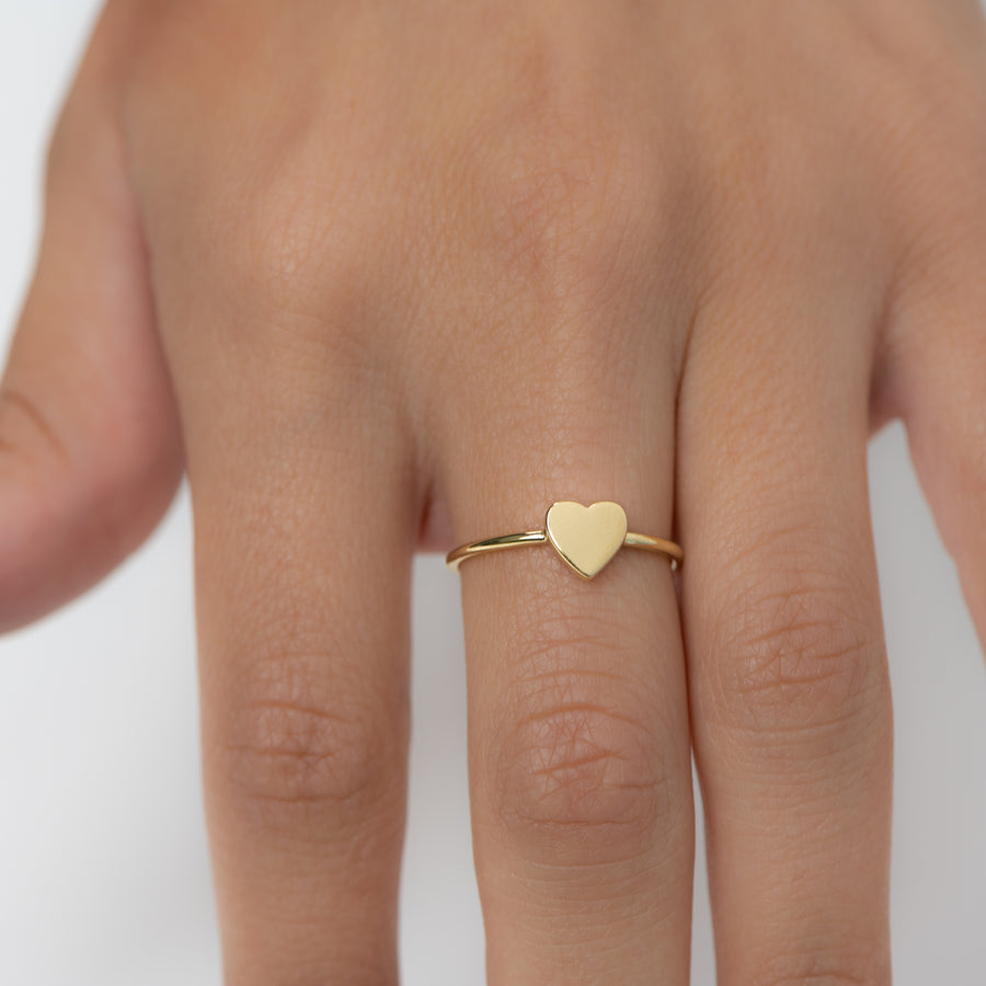Valentina Plain Heart Ring