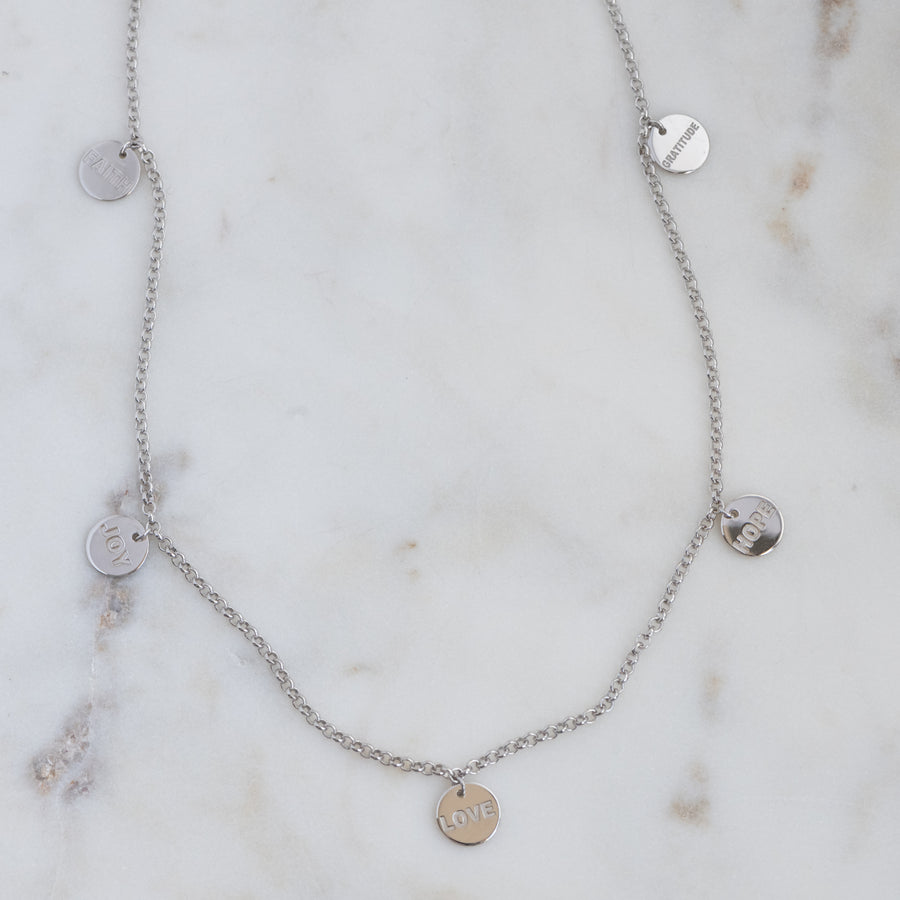 silver charm necklace