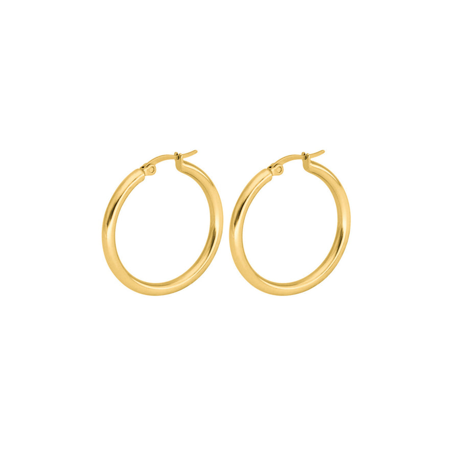large gold tube hoops