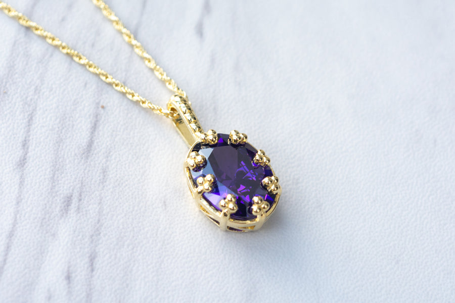 You So Fine Necklace - Amethyst