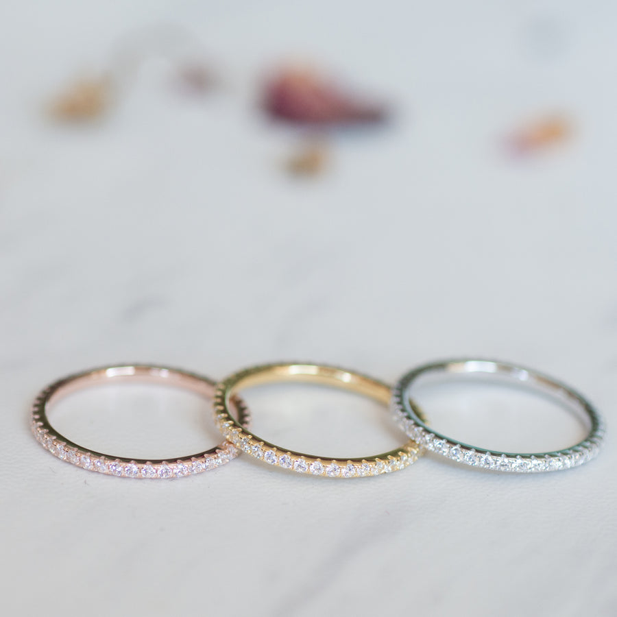 diamond stacking eternity bands