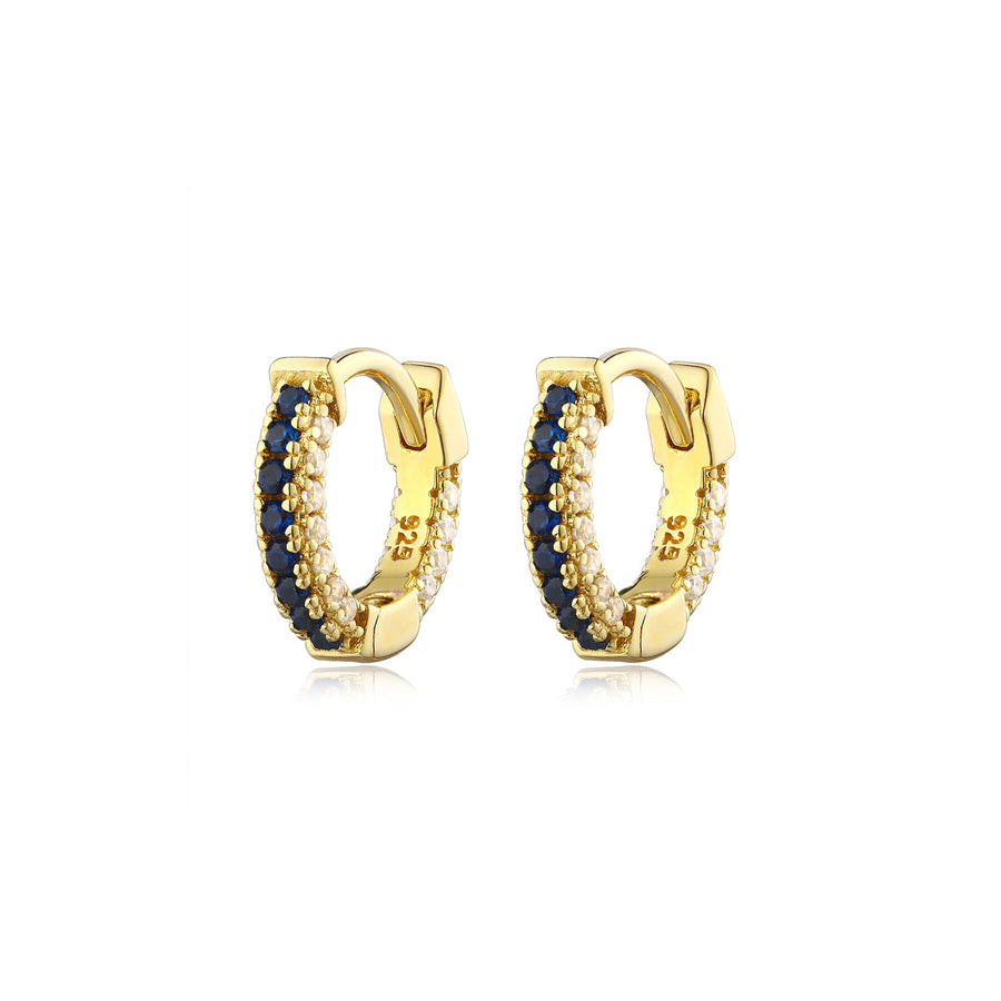gold sapphire diamond earrings