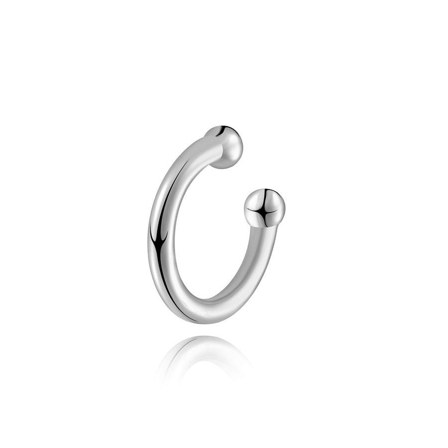 plain sterling silver 14k gold plated ear cuff