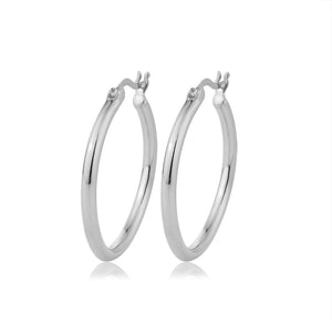25mm Dainty Hoop Earrings