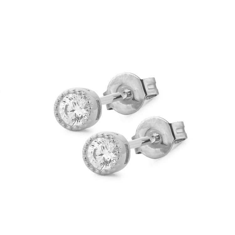Small Diamond Stud Earrings