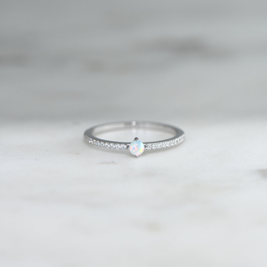 Dainty Opal Stacking Ring