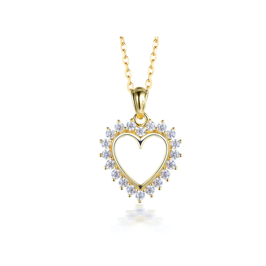 studded heart necklace