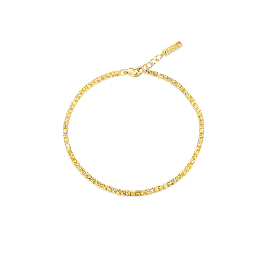 yellow stone tennis bracelet