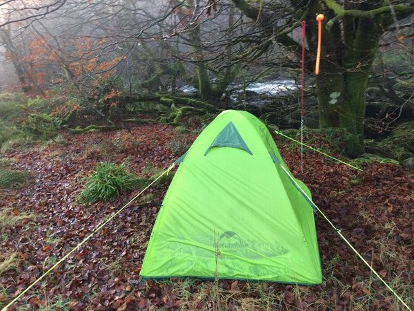 Narrow view of the NatureHike 2 Man Ultralight Silicone tent