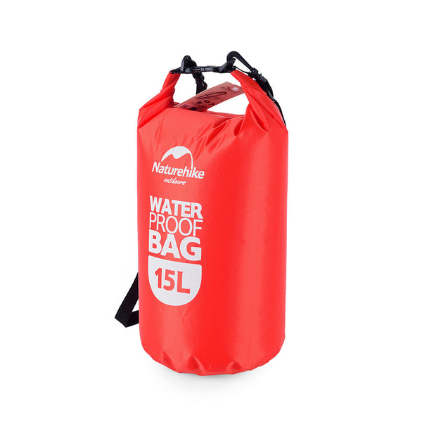 NatureHike 15 litre waterproof dry bag in red