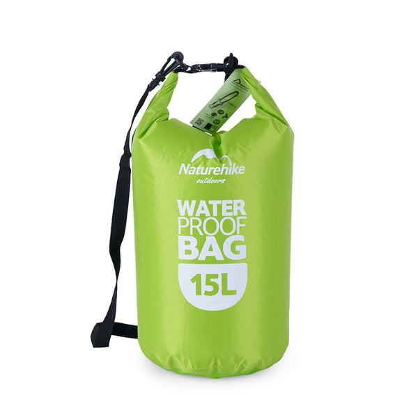 NatureHike 15 litre waterproof dry bag in green