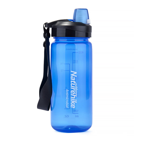 NatureHike 500ml Easy Open water bottle in blue