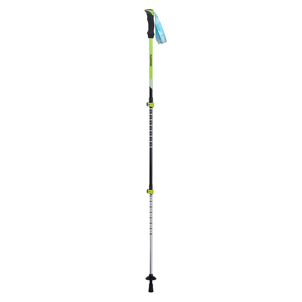 NatureHike 3 Piece outer locking Trekking Pole fully extended in green