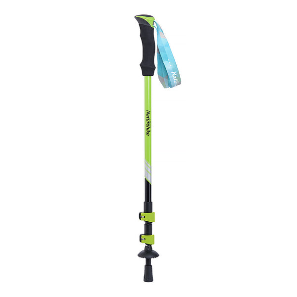 NatureHike 3 Piece outer locking Trekking Pole fully collapsed in green