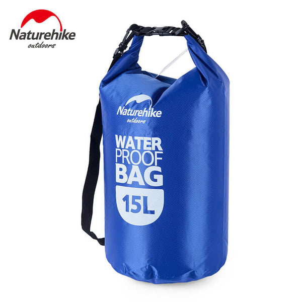 NatureHike 15 litre waterproof dry bag in blue