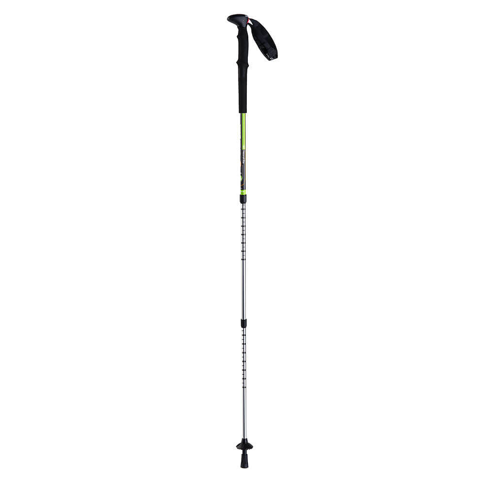 NatureHike 3 Node Inner Locking Aluminium Trekking Pole fully extended in green