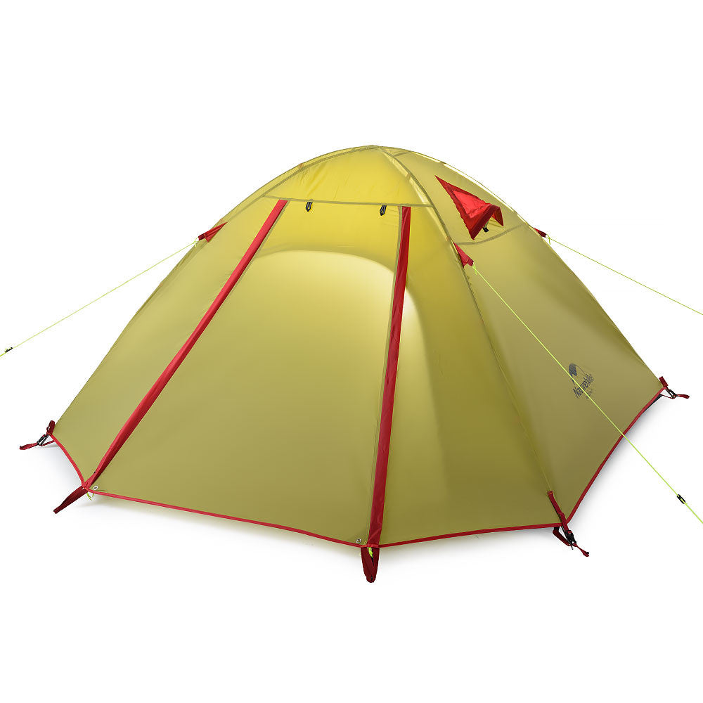 NatureHike 4 Man P Series Dome Tent in olive green