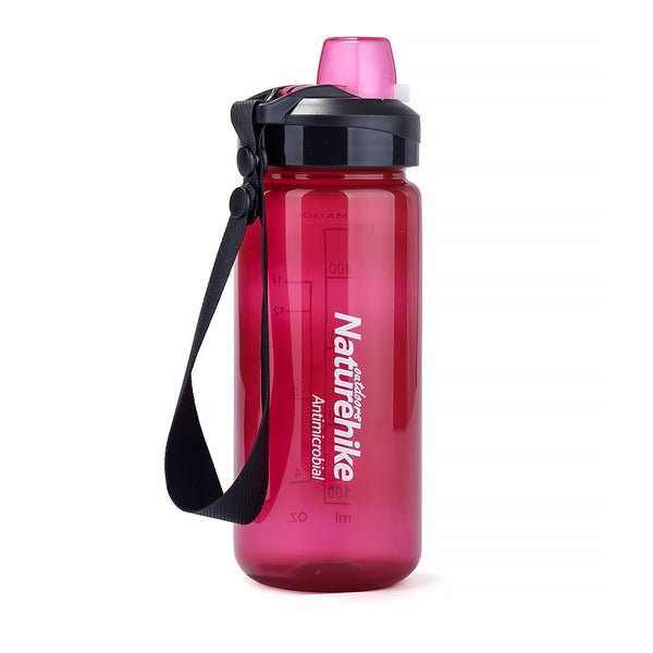 NatureHike 500ml Easy Open water bottle in pink