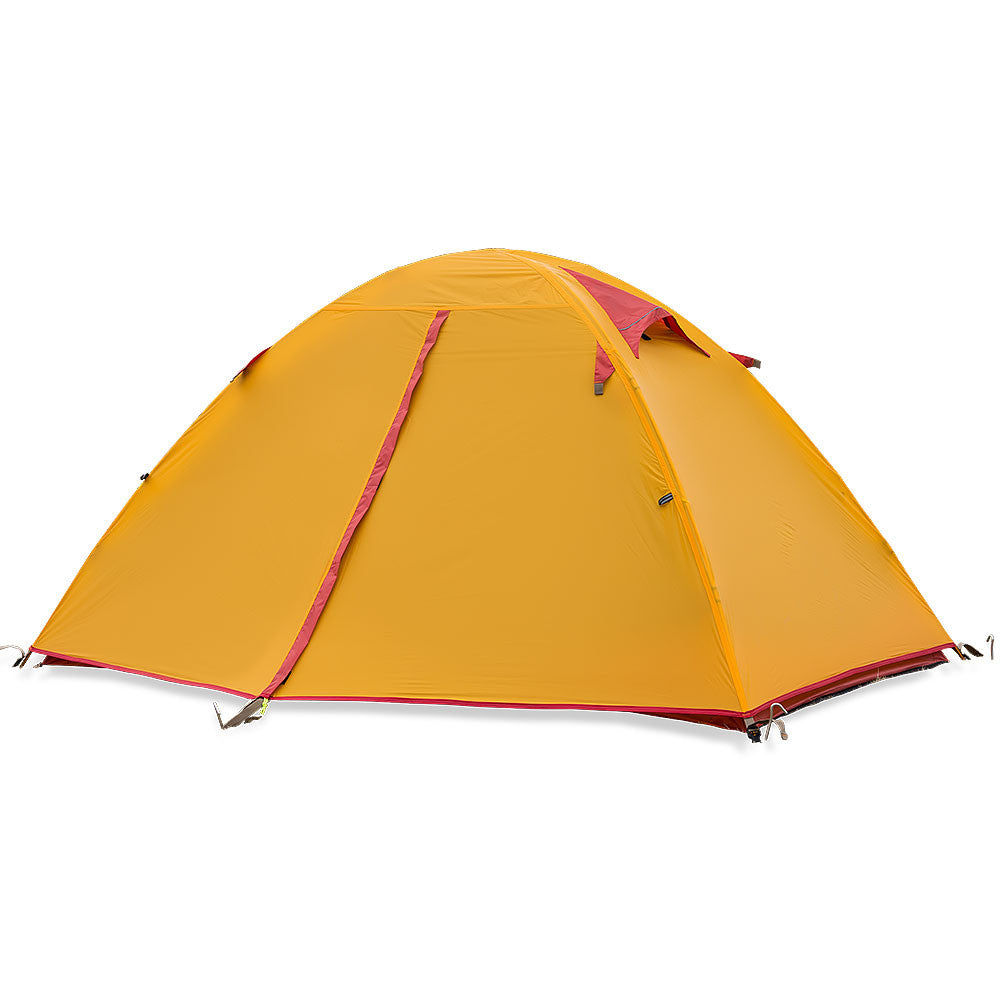 The NatureHike 2 Man Ultralight Silicone Tent in Orange and Red