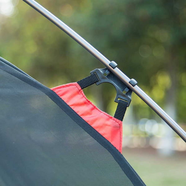 Pole clips on a NatureHike 2 Man Ultralight Silicone Tent