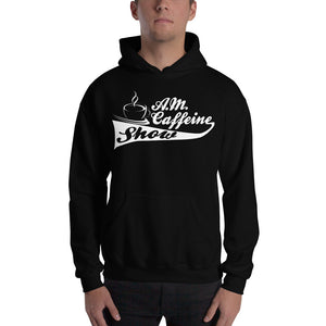 A.M. Caffeine Hoodie (White) Logo - StereoTypeTees