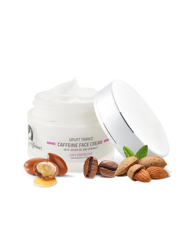 Uplift Trance Caffeine Face Cream with Vitamin E & Argan Oil - 50 ml, All Skin Type, Paraben Free