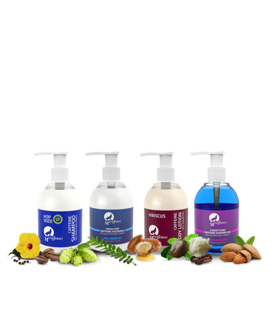 Complete Body Care Kit ( Fresh Pop Face Wash + Body Lotion + Shower Gel + SLS Free Shampoo )