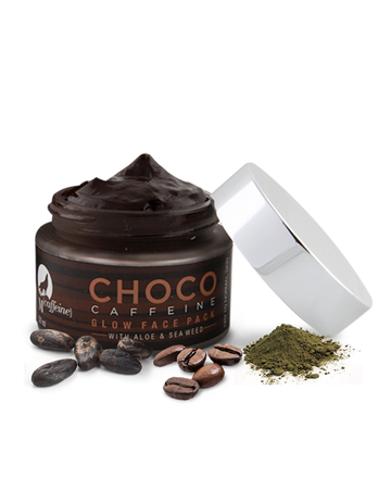 Choco Caffeine Glow Face Mask for Dry Skin - with Sea Weed, Gel-Based