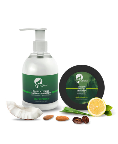 Hair Strengthening Kit - Caffeine Shampoo + Caffeine Hair Cream