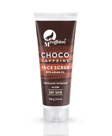 Choco Caffeine Face Scrub with Argan Oil, 100gm, Dry Skin